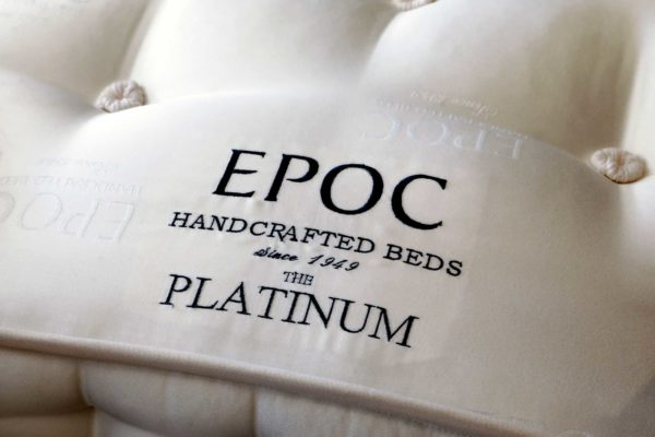 Embroidered centre panel and a tufted finish to the Platinum mattress from EPOC Handcrafted Beds