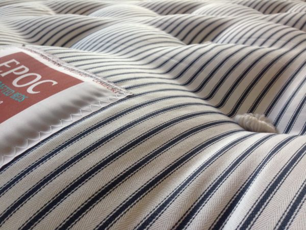 Natural Deluxe mattress from EPOC Handcrafted Beds has a quality, tufted finish.