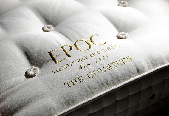 Countess mattress from EPOC Handcrafted Beds with embroidered panel
