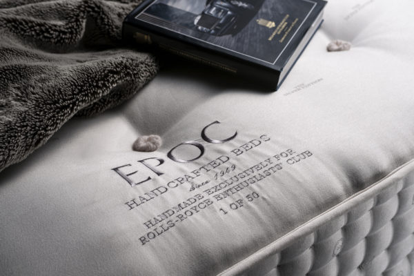 Silver Edition mattress with bespoke, embroidered centre panel and exquisitely hand side stitched