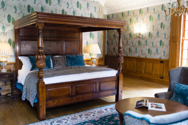 Ashendon mattress from EPOC Handcrafted Beds set within a stunning four-post bed frame