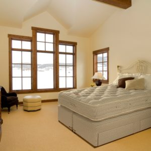 The Victoria mattress from EPOC Handcrafted Beds set within a master bedroom in a luxury home.